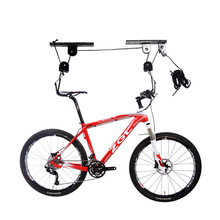 Buy Mountain Bike Suspension Frame Display Wall Hanging Rack Strong Bicycle Ceiling Mounted Hoist Storage Garage Hanger Pulley for $26.72 in AliExpress store