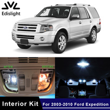 Edislight 15Pcs White Ice Blue Canbus LED Lamp Car Bulbs Interior Package Kit For 2003-2010 Ford Expedition Map Dome Door Light(China)