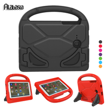 Alabasta For Samsung galaxy Tab E 7.0inch T110 T113 T116 case Kids Children Friendly 3D Safe Football Hand Strap Cover Stylus(China)