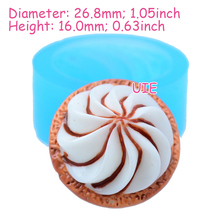 XYL004U 26.8mm Whipped Cream Flexible Silicone Mold - for Desert, Fondant, Cake Topper, Gum Paste, Cookie Biscuit, Resin, Icing(China)
