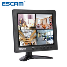 Escam 8-inch TFT HD LCD PC Monitor T08 with VGA HDMI AV BNC USB for Security Camera CCTV Monitor PAL/NTSC System Audio Input