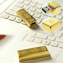 Top Quality Luxury USB Flash Pen Driver 4GB 8GB 16GB 32GB Gold Golden Bar USB 2.0 Flash Memory Drive Pendrive Driver Stick disk(China)