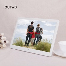 OUTAD Hot 1280*800 Digital 15inch HD TFT-LCD Photo Picture Frame Alarm Clock MP3 MP4 Movie Player with Remote Control Wholesale