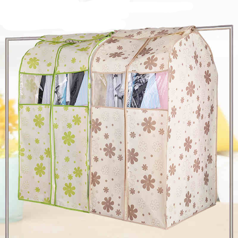Breathable Non Woven Cloth Wardrobe Storage Bag Clothes Garment Suit Dust Cover Protector(China)