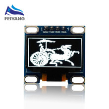 "1pcs SAMIORE ROBOT 0.96""white/blue/yellow 0.96 inch 128X64 OLED Display Module 0.96 IIC I2C Communicate(China)"