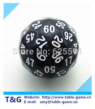 T&G dice High Quality Black 60 Sided D60 Big Dice Toy Dungeon and Dragons rpg d&d dados