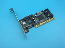 High Quality Chip SIL3114 PCI to 4 SATA Interfaces Expansion Card Support Low Profile Bracket
