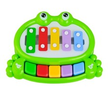 Knocking and playing double function piano music toy one pcs intelligence game random color(China)
