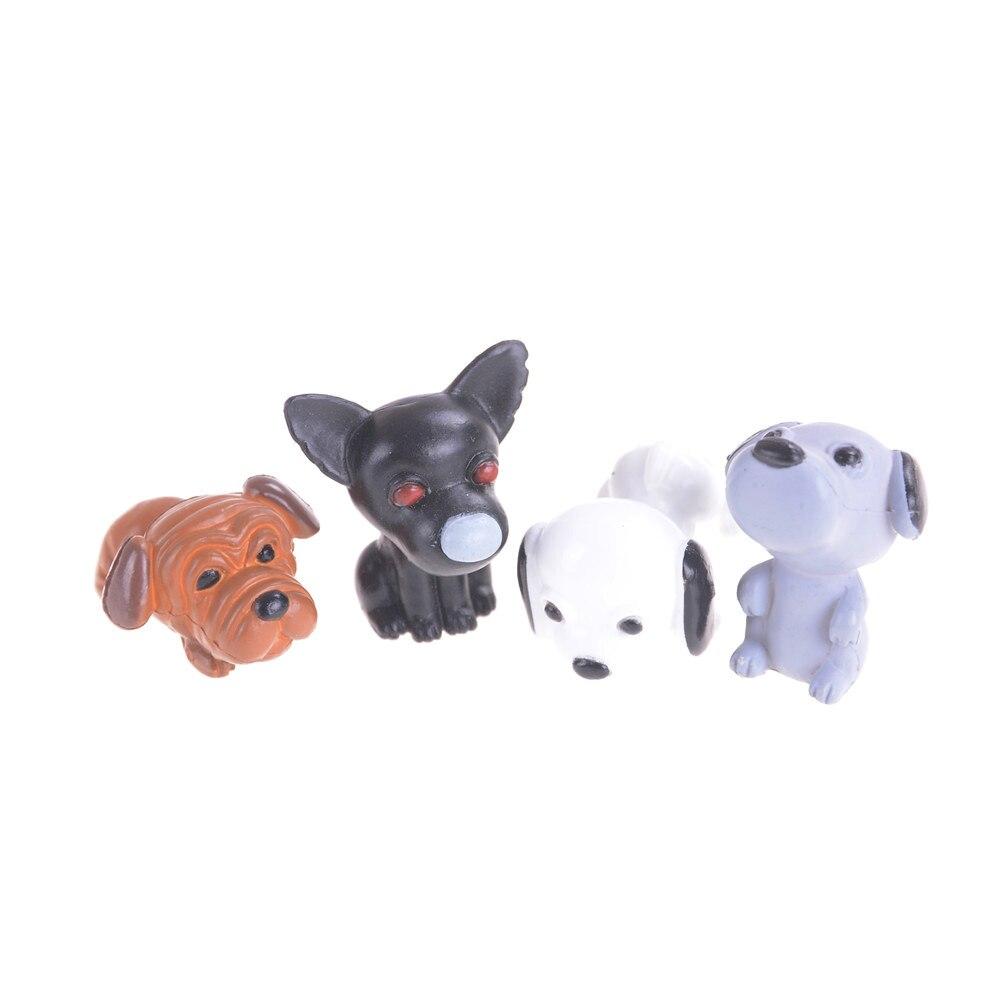 4Pcs/ Set Miniature Dollhouse Bonsai Craft Fairy Garden Landscape DIY Dogs For Home Decor  2.6 x 2.8cm