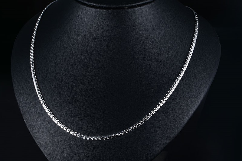 Meaeguet Gold-color Stainless Steel Flat Box Chain Necklaces Rock Men Link Chain Hip Hop Party Jewelry 24 Length (8)