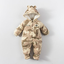 Buy 2017 New Fashion Baby Cotton Romper Warm Winter Baby Romper One-piece Thick Hooded Newbron Jumpsuit Animal Style Baby Clothes for $17.99 in AliExpress store