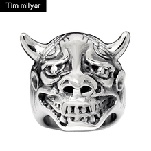 Big Head Cow Design Animal Ring Silver-color Punk Jewelry for Party OX High Quality Mens Rings
