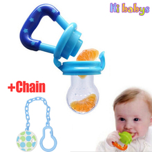 Baby Feeding Bottles Nibble + Chain Baby Care Pacifier Feeder Fruits Nipple Infant pacifier Dummies Soother Feeding Supplies(China)