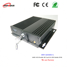4G GPS surveillance video recorder 4CH mdvr dual SD card equipment sprinkler mobile dvr support Lao language(China)