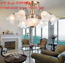 Bronze Chandelier Fixtures For Home Decoration For Living Dining Room Lamp Indoor Modern Chandelier Light Study room light Free(China)