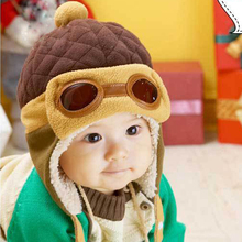 Toddler Cool Baby Boy Girl Kids Infant Winter Pilot  Warm Cap Bomber Hat New Arrival