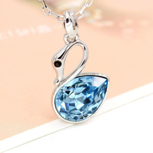 Free Shipping 1Pcs weet Cute Swan Necklace Women Jewelry Birthday Present Jewelry accessories  necklace Fashion jewelry