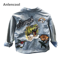 Anlencool Children's fashion Cowboy Jackets Denim Clothes Long-sleeve boys Coat Jackets Kids Girls Jackets Children clothes