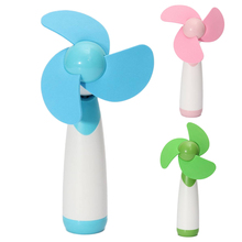 Portable Handheld Mini Cooling Cool Fan Super Mute Battery Operated Green