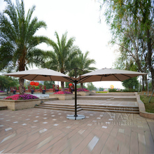 3*3 meter Deluxe big patio garden umbrella with 2 covers parasol sunshade for outdoor furniture covers