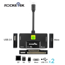 Rocketek all in 1 card reader OTG for Android Devices Micro USB Connection for hub/sd/tf/cf/mirco sd cardreader usb 2.0