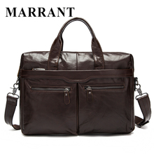 MARRANT Genuine Leather Bag Casual  Handbags Cowhide Men Crossbody Bags Men's Travel Bags Tote Laptop Briefcases Men Bag 9005
