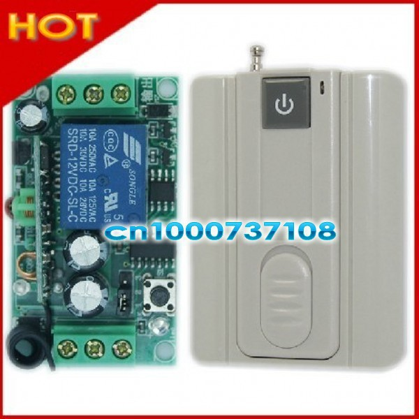 DC12V 1CH RF remote control outlet switch 433.92mhz receiver digital wireless remote control switch livolo remote control switch<br><br>Aliexpress