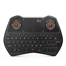 Rii Multi-functional Mini i28C Wireless Keyboard with Backlight - English Russian Version With Innovative Design of Mouse Combo(China)