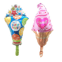 QGQYGAVJ Latest mini ice cream balloon with star sweet valentine foil for happy day decoration ballon(China)