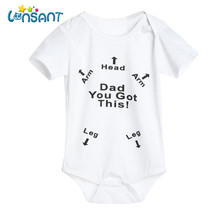LONSANT 2018 Baby Boy Girl Cotton Romper Funny Baby Clothes Jumpsuit Pasgeboren Baby Kleding Unisex Kids Clothing Dropshipping(China)