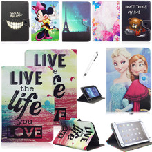 "Congelados Princess Elsa Anna Mickey Minnie Mouse Leather Case Cover for 7"" Toshiba Encore mini WT7-C16 / C32 Windows 8.1 Tablet"