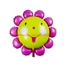 Lucky 10pcs/lot 84*84cm Cloroful Sunflower Balloon Foil Air Balloons Party Wedding Decoration Globos Inflatable Mylar Ballon Toy