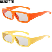 BGEKTOTH Kids Crab Frame Passive Polarized Stereo 3D Glasses For RealD 3D Cinema Television(China)