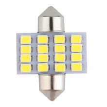 New Super White 31mm Festoon 16 SMD 1210 Car Led Auto Interior Dome Door Light Lamp Bulb Pathway lighting 12V Work Lamp hot sale(China)