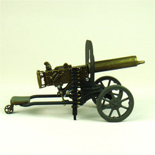 Scaled Maxim Machine Gun Diecast Model the First World War Novelty Decor Craft Ornament for Art Collection and Souvenir Gift(China)