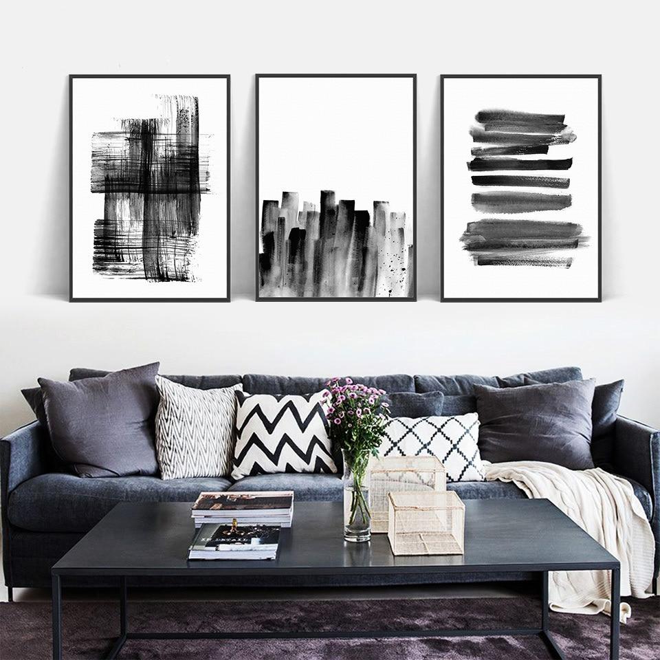 ArtSailing-Nordic-arte-da-parede-Abstrato-Cinza-Linha-Nordic-simplicidade-lona-Pintura-de-parede-pictures-Para (3)