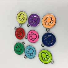 Factory Direct Supply ! Dog Paw Style Dog Name Dog Necklace Tag Pets Identity Card For Pets Fashion Key Chain Free Shipping(China)