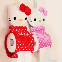 Home decoration Cute Hello KITTY Home & Bathroom Tissue Case Box Container ; Towel Napkin Papers BAG Holder BOX Case Pouch