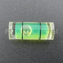 20pcs 8*20mm Plastic tube level  protractor Acrylic Bubble level Circular spirit level vial