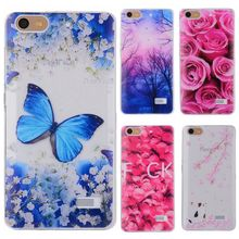Phone Cases sFor Huawei Honor 4C 4 C Flowers Rose Plants Butterfly Pattern Clear Soft TPU Back Cover for Huawei Honor4C 5.0""