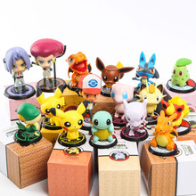 High quality Pikachu toy action figure kids toys for children High quality Birthday Christmas gifts 5-10cm