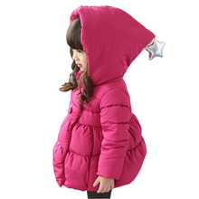 2017 New Kids Winter Jacket Girl Thick Warm Hooded Children Outwear Coat Fashion Baby Girls Parka Jackets 2-7Y DQ615