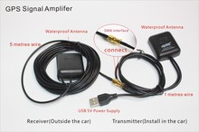 GPS Antenna GPS signal Amplifier receiver+transmitter USB connector,amplifying GPS signal for navigation system navigator phone