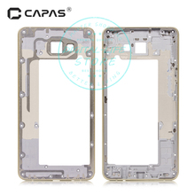 Middle Faceplate Frame for Samsung Galaxy A9 Pro A9100 A910F Metal Mid Plate Frame Bezel Housing Chassis Repair Spare Parts(China)