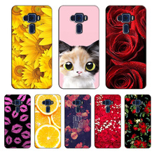Popular Cover for Asus Zenfone 3 ZE552KL Colorful Printing Case Fashion Flower for Asus Zenfone 3 ZE552KL case cover Shell(China)