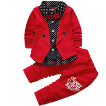 2017 New Baby Boys Autumn Casual Clothing Set Baby Clothes Boy Coat+Pant 2PCs Suit Children's Clothing Sets 12 Month-4 Years Old(China)