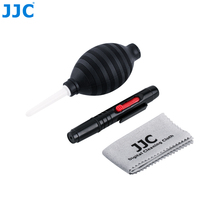 JJC Lens Pen Air Dust Blower Fiber Lens Cloth 3-in-1 Camera Cleaning Kit for Nikon Sony Olympus Canon DSLR Sensor LCD Clean