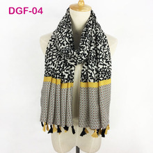 Very beautiful ladies cotton satin hijab soft fabric wraps long simple flower printed tassel muslim scarf shawl wholesale(China)