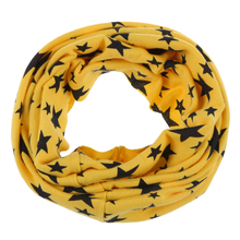 Unisex Babies Loop Wraps Five-pointed Star Knitted Wraps Winter Shawl Snood Neck Warmer Yellow(China)