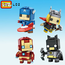 LOZ Mini Blocks Brick Heads Figure Building Blocks  toys Children Intelligence Models Building Chirstmas Quiz Toys For Children